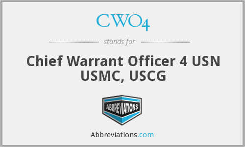 What does CWO4 stand for?