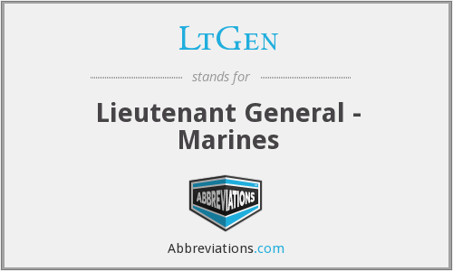 What does LTGEN stand for?