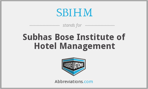 What does SBIHM stand for?
