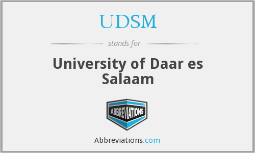 What does UDSM stand for?