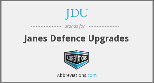 What does JDU stand for?