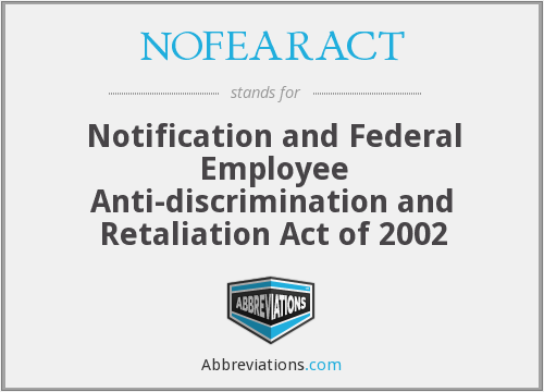 What does NOFEARACT stand for?