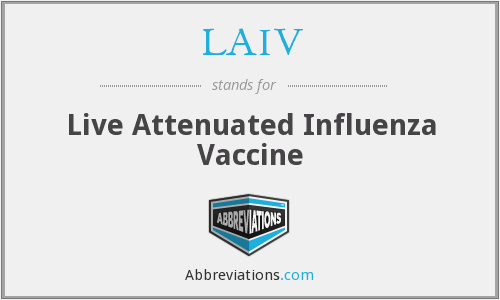 What does LAIV stand for?