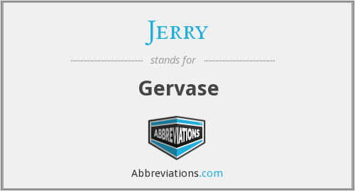 What does JERRY stand for?