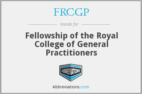What does FRCGP stand for?