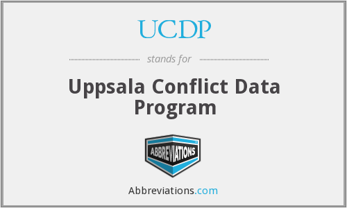 What does UCDP stand for?