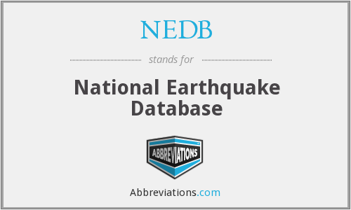 What does NEDB stand for?