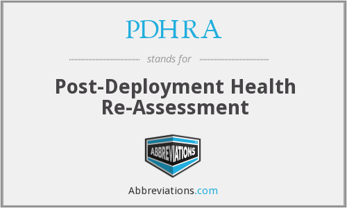 What does PDHRA stand for?