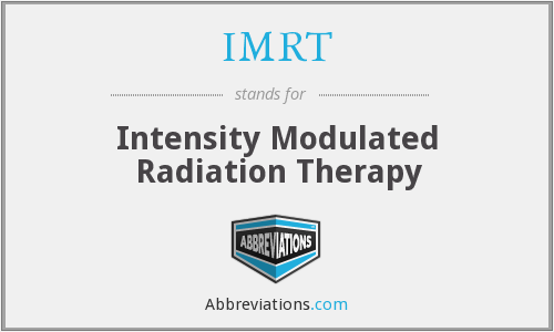 What does IMRT stand for?