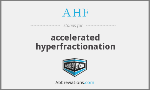 What does AHF stand for?