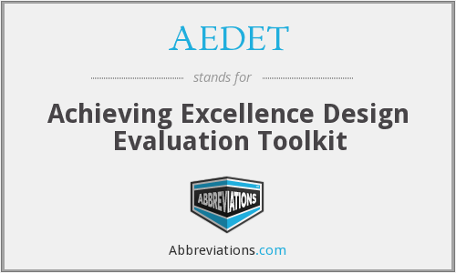 What does AEDET stand for?