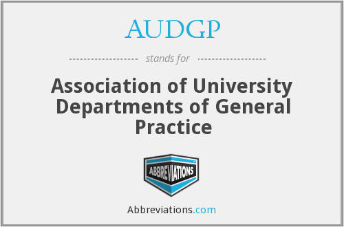 What does AUDGP stand for?