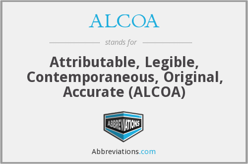 What does ALCOA stand for?