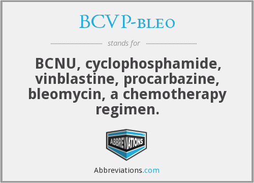 What does BCVP-BLEO stand for?