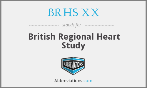 What does BRHS XX stand for?