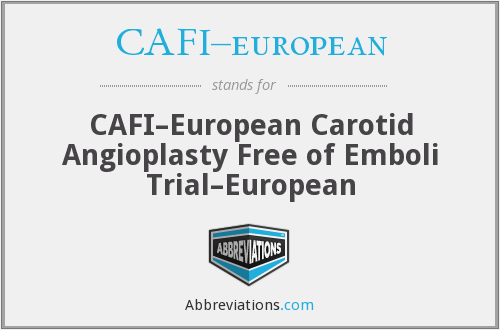 What does CAFI–EUROPEAN stand for?
