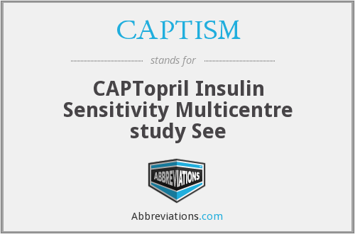 What does CAPTISM stand for?