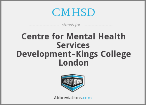 What does CMHSD stand for?