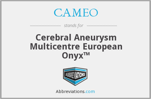 What does CAMEO stand for?