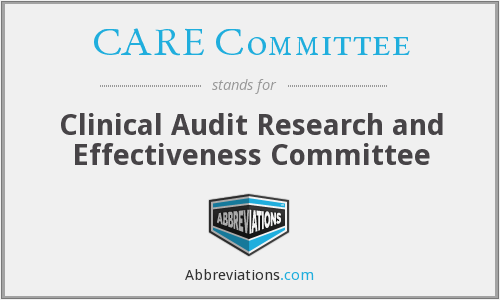 What does CARE COMMITTEE stand for?