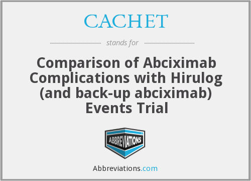 What does CACHET stand for?