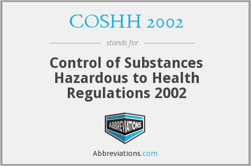 What does COSHH 2002 stand for?