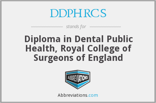 What does DDPHRCS stand for?