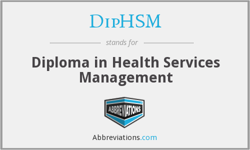 What does DIPHSM stand for?