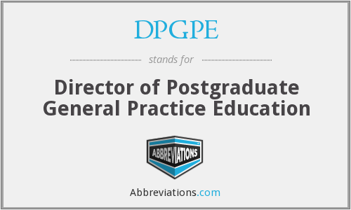 What does DPGPE stand for?