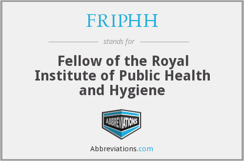 What does FRIPHH stand for?