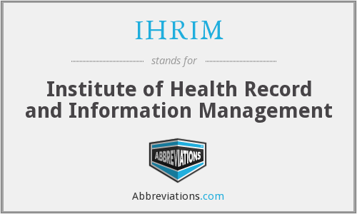What does IHRIM stand for?