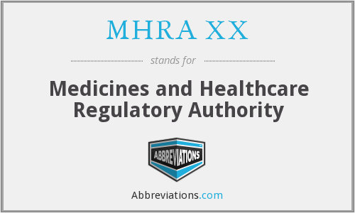 What does MHRA XX stand for?