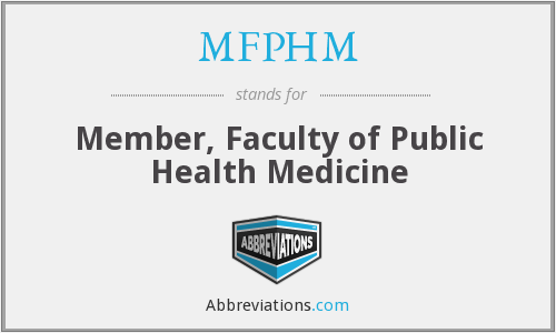 What does MFPHM stand for?