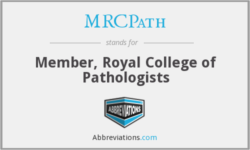What does MRCPATH stand for?