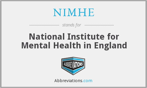 What does NIMHE stand for?