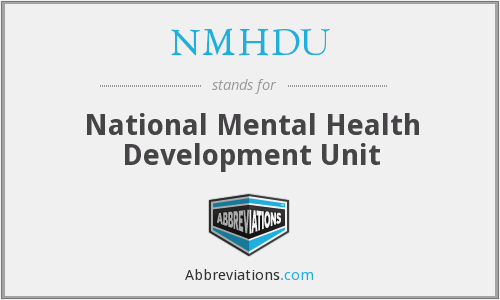 What does NMHDU stand for?