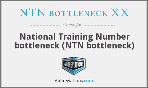 What does NTN BOTTLENECK XX stand for?