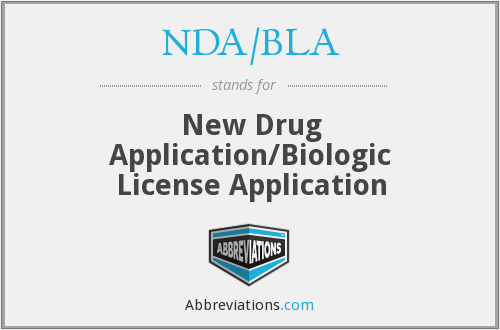 What does NDA/BLA stand for?