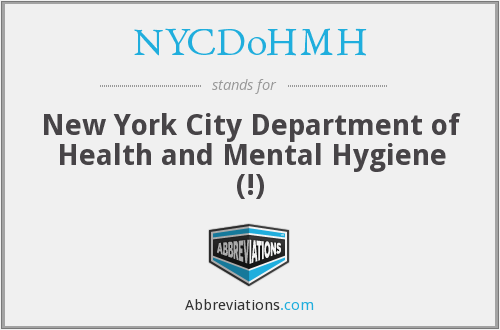 What does NYCDOHMH stand for?