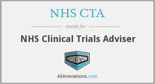What does NHS CTA stand for?