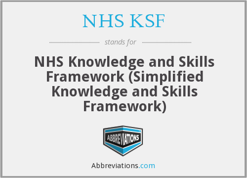 What does NHS KSF stand for?