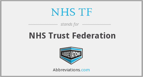 What does NHS TF stand for?