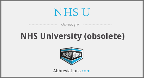 What does NHS U stand for?