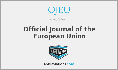 What does OJEU stand for?