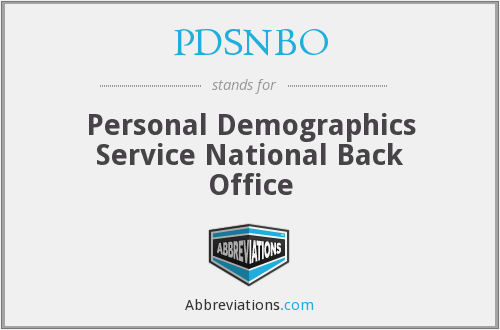 What does PDSNBO stand for?