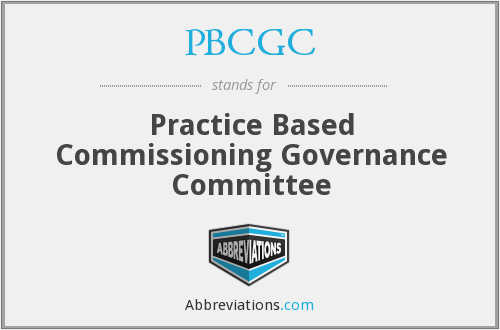 What does PBCGC stand for?