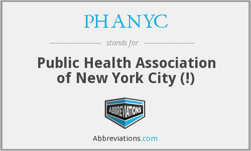 What does PHANYC stand for?