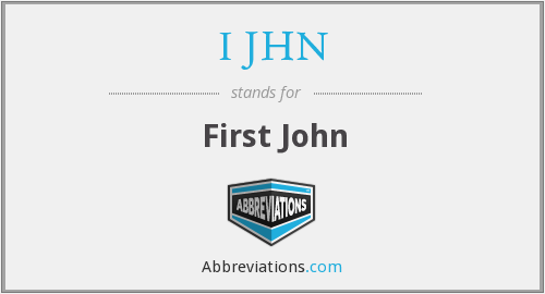 What does I JHN stand for?