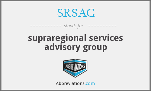 What does SRSAG stand for?