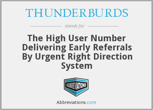 What does THUNDERBURDS stand for?